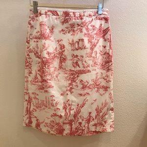 NWOT J. Crew Print Pencil Skirt